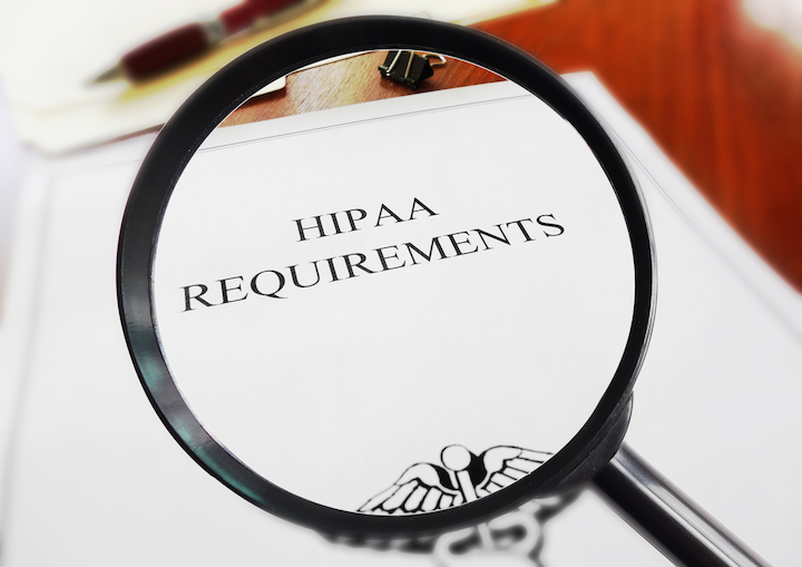 Photo of Magnifying glass magnifying HIPPA Requirements
